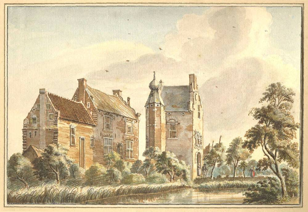 De Lathum in Angerlo. Tekening Jan de Beijer, 1742